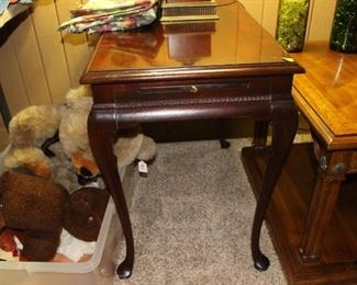 Dark wood end table