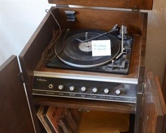 turntable in cabinet