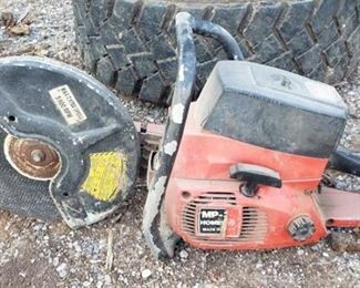 MP-38 Homelite Gas Powered Concrete Cutter ~ has compression