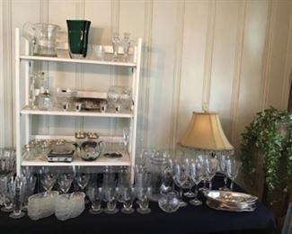 Lots of crystal and cut glass, Some Waterford