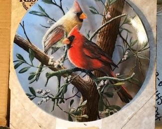 Knowles Encyclopedia Britannica Birds of Your Garden Collection (Kevin Daniel, artist) - complete series (10) in boxes w/certificates
