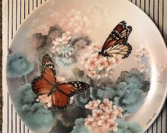 "W.L. George Fine China - Lena Liu, artist, ""On Gossamer Wings"" (butterflies) - complete series (8) in boxes w/certificates"