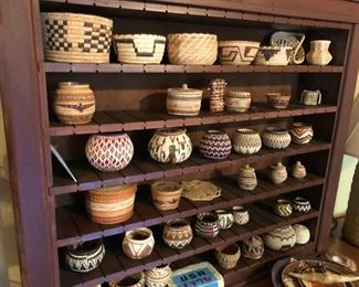 Native American woven baskets
