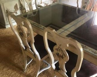 Oriental Table with 6 chairs