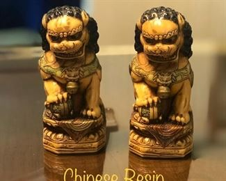 Chinese Resin Foo Dogs