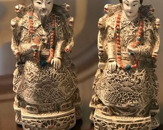 Resin Hand Painted Oriental Figurines