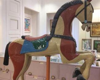 Antique English Carousel Horse