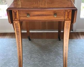 Price: $600. John Widdicomb table. 28H x 22W x 34.5D (48W leaves extended). Condition very good.