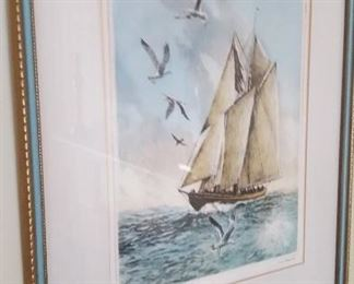 The Famous Bluenose Signed R.H. Palenske