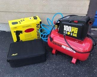 Electric Compressor and Portable Air Gun