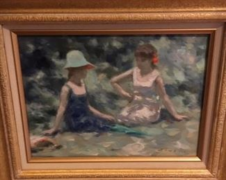 "Andre Gisson Impressionist oil on canvas 10"" x 16""                                       $1,500."
