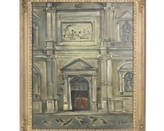 "Sickert (?)           Facade of Chiesa di San Rocco Venice                      oil on canvas           29""x 23""            $2,500.00"