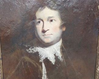 "Joshua Reynolds (1723-1792)                                                  Study portrait of David Garrick -                                   Oil on paper on board       25.75""x20""      $7,500."