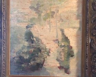 "Oil on canvas           signed    A. Rieser            19"" x 15""      IMPRESSIONIST      $1500."