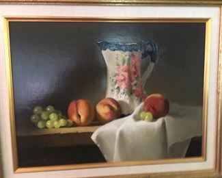 "Jerry Weers       Oil on board        still life     11.5"" x 15.5""                                            $500.00"