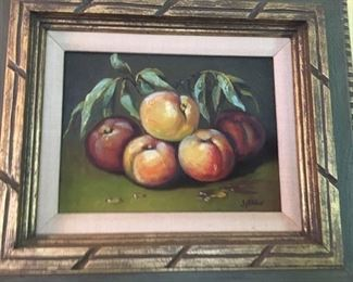 "Still life      oil on canvas       illegibly signed       9"" x 11.5""                                    $200"