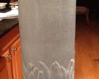 "Weller  Pottery Piece         24"" Tall             $225."