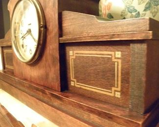 Antique WOOD Mantel Clock            $375.