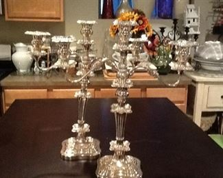 Silver CANDELABRAS  Set Of 2         $400.