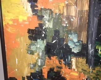 "Abstract oil on canvas       24""x30""         $750.00"