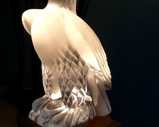"LLADRO EAGLE on Lighted pedestal        9""tall 12"" with stand              $900."
