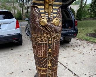 King Tut mummy  Bookcases or Bar Cases   Great for library room.         $695.    Ea