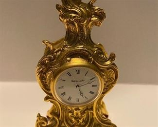 "Brass  Table Clock    5.5"" High       Collection D'Art Italian   $ 100."