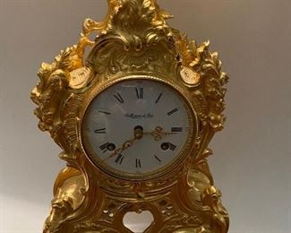 "D'Art       Italy    BRASS  Table/Mantle  Clock             16"" high     HEAVY    No Key        $550."
