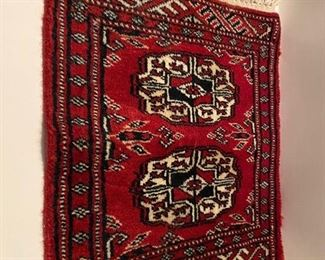 "Hand Made Persian Prayer Rug        17"" long 12 ""wide            good condition       $75."
