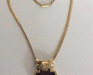 Vintage  large amethyst costume necklace.          $125
