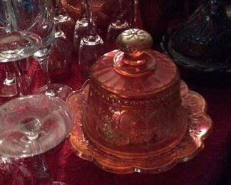 Carnival  Glass      Large     Covered  Dish               $75.