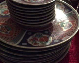 Antique          Large & Small  Imari Plates               16 pcs            $150.