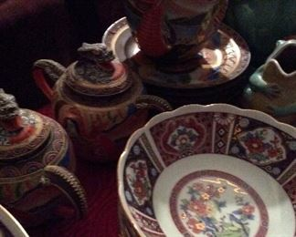 Occupied Japan      Satsuma       Tea Set        Dragon embellished         12pc        $125.