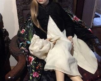 "Christine Orange    Porcelain  Doll         36""          $175."