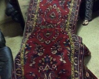 "Hamadan     Persian  Rug     Runner     30"" x 13 FT     $475."