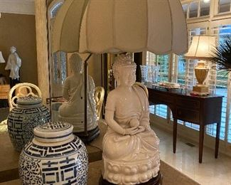 Pair of Buddha Lamps