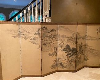 Vintage 6 Panel Asian Style Screen