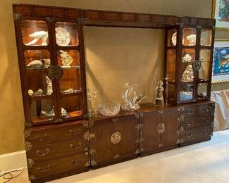 Large Scale Asian style Display Cabinet (has optional mirrored panels for the middle )