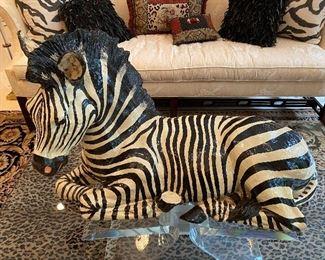 Large Decorative Zebra