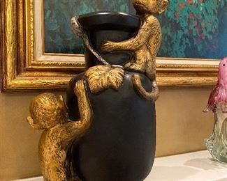 Decorative Monkey Vase