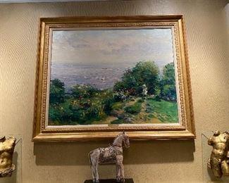 Large Oil on Canvas by Gaston Sebire
