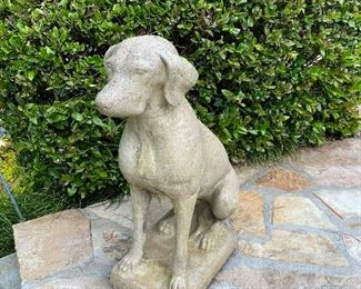Pair of Concrete Dogs