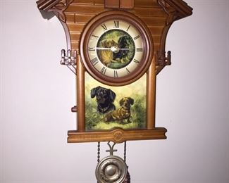 German Dog Themed Cuckoo Clock