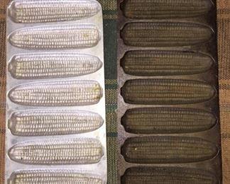 Cast Iron and Aluminum Cornbread Pans