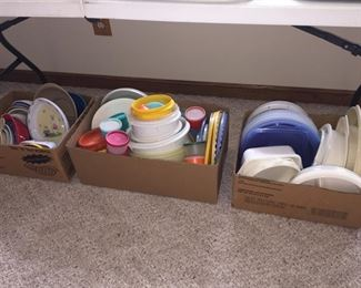 Tupperware and Microwave Cookware
