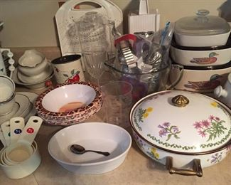 Assorted China and Kitchen Items
