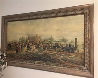 """First Railway Train"" Framed Wall Art"