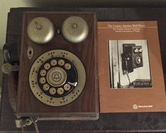 Southern Bell Oak Rotary Dial Telephone