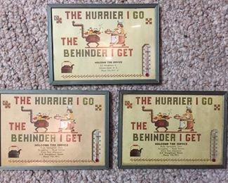 Framed Advertising Thermometers