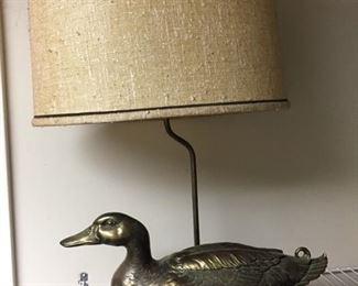 Brass Duck Lamp